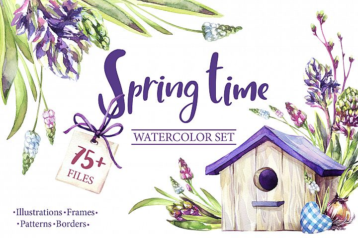 """""""Spring Time"""" watercolor collection"""