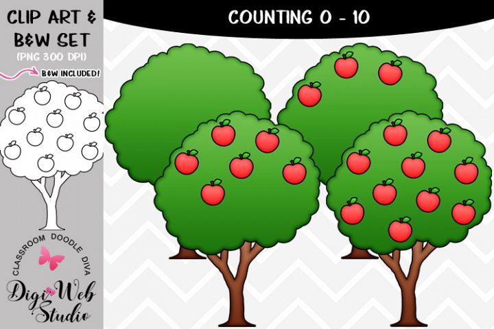 Clip Art / Illustrations - 0-10 Counting Apples