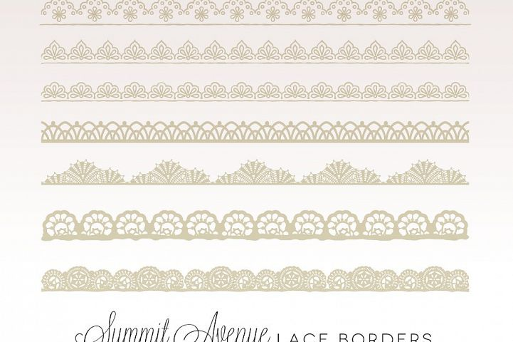 Vintage Lace Borders - PNG, PSD & Vector Files