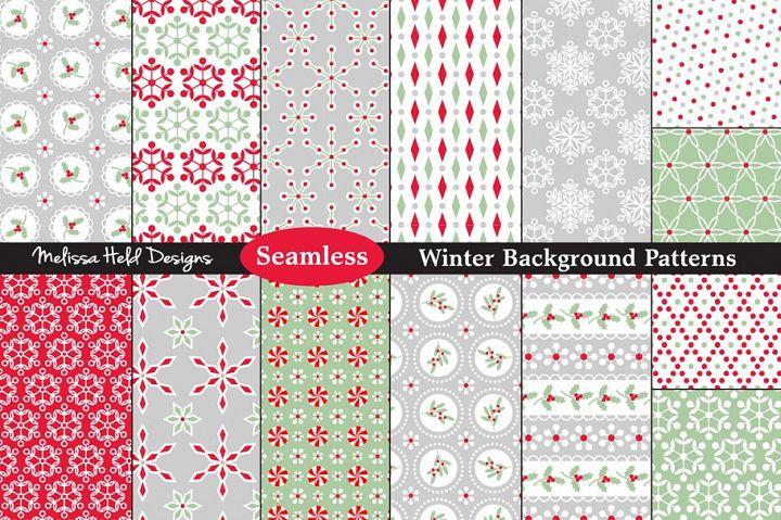 Winter Background Patterns