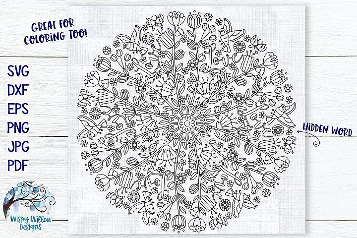 Love Mandala | Hidden Word Mandala SVG Cut File
