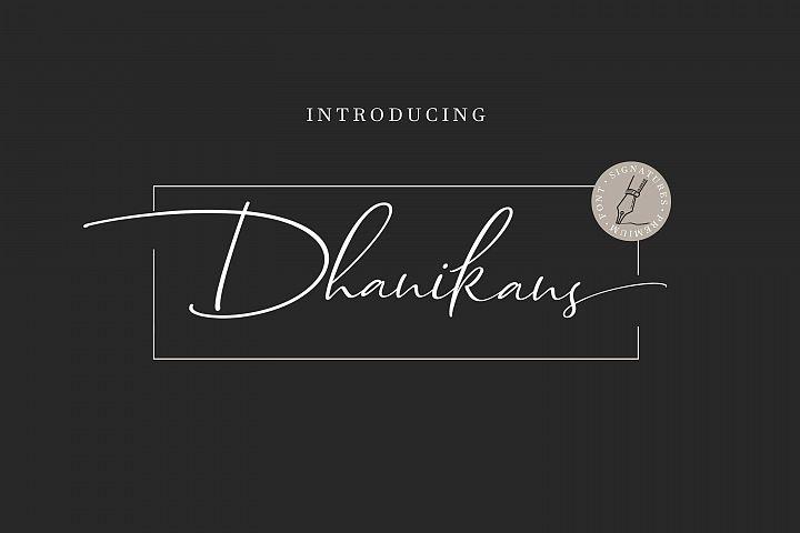 Dhanikans Signature Font Duo