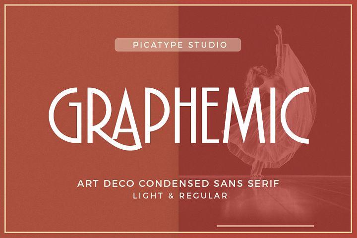 Graphemic   Deco Condensed Sans