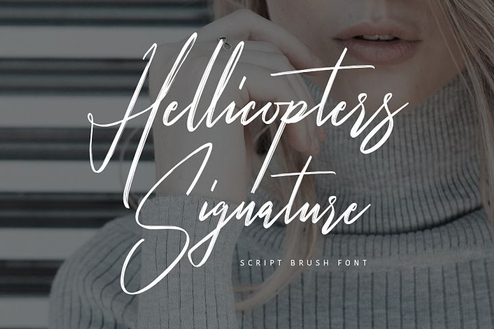 Hellicopters Brush Font