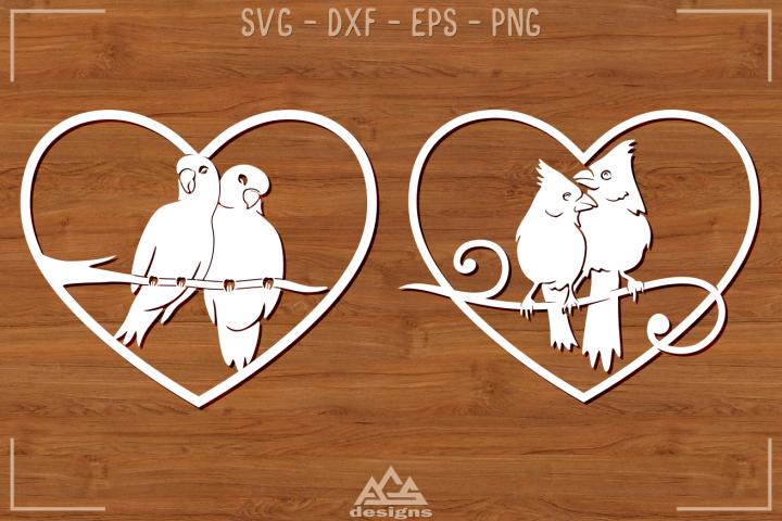 Bird Love Heart Svg Design