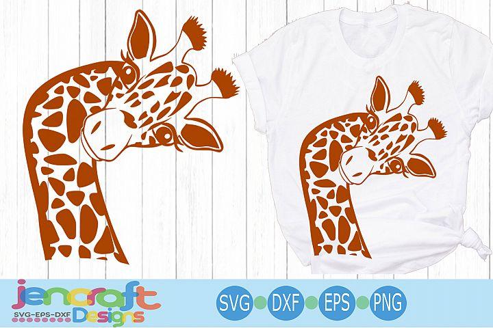 Giraffe svg, Cute Funny sideways Safari Giraffe cut file dxf