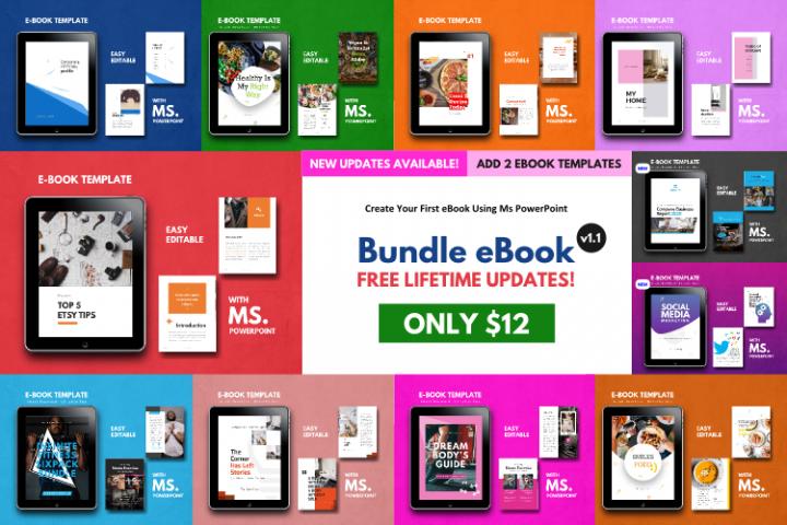 11 eBook Bundle v1.1 Template Editable Using Ms PowerPoint