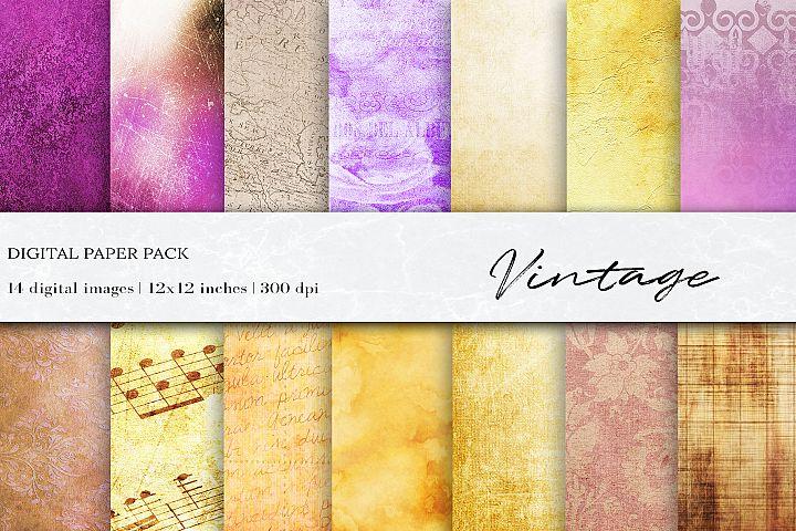 Vintage Digital Papers, Vintage Textures