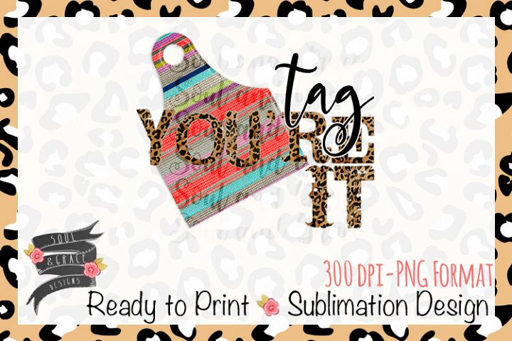 Tag Youre It Serape Cow Tag Ready to Print