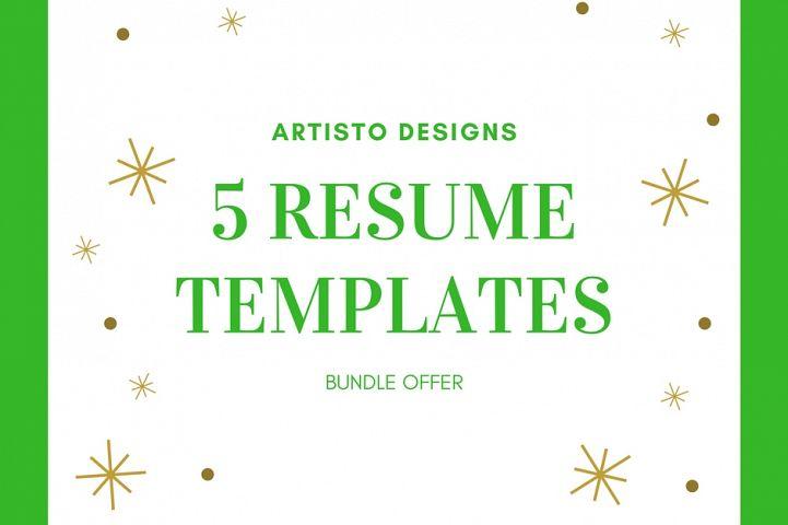 Creative resume template / CV. Bundle offer