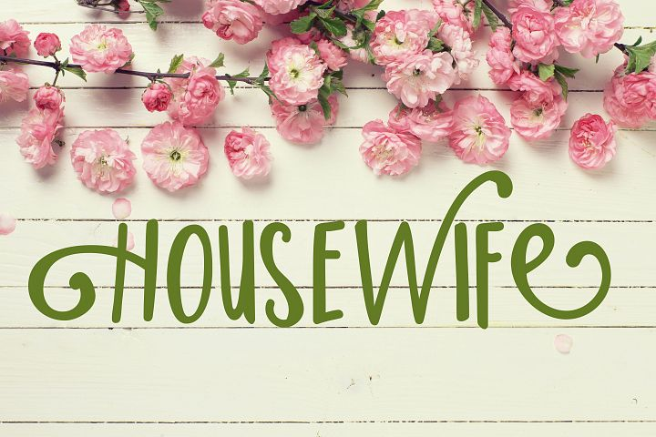 PN Housewife - Free Font of The Week