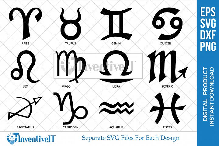 Zodiac Sign | Horoscope | Astrology | Zodiac Logo | Symbol |