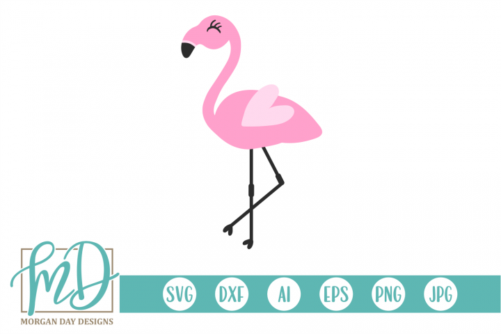Summer - Beach - Pink Flamingo SVG
