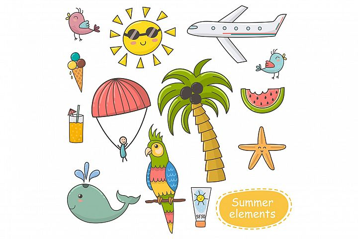 Summer Time: pattern & clipart - Free Design of The Week Design 5