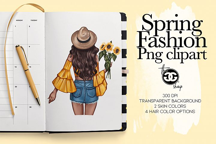 Fashion Clipart // Spring Clipart // Fashion Illustration //