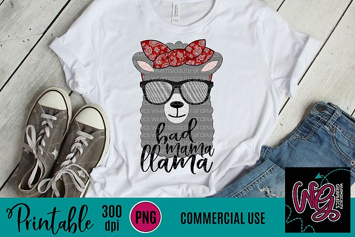 Bad Mama Llama Sublimation Printable