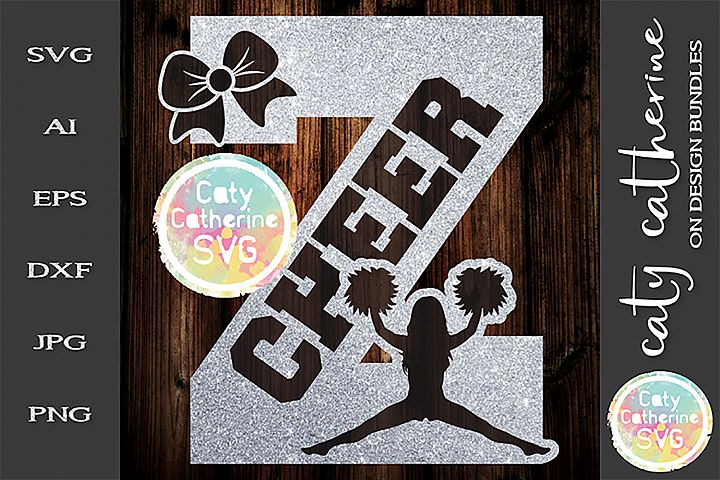 Letter Z Cheerleading Monogram Letters SVG Cut File