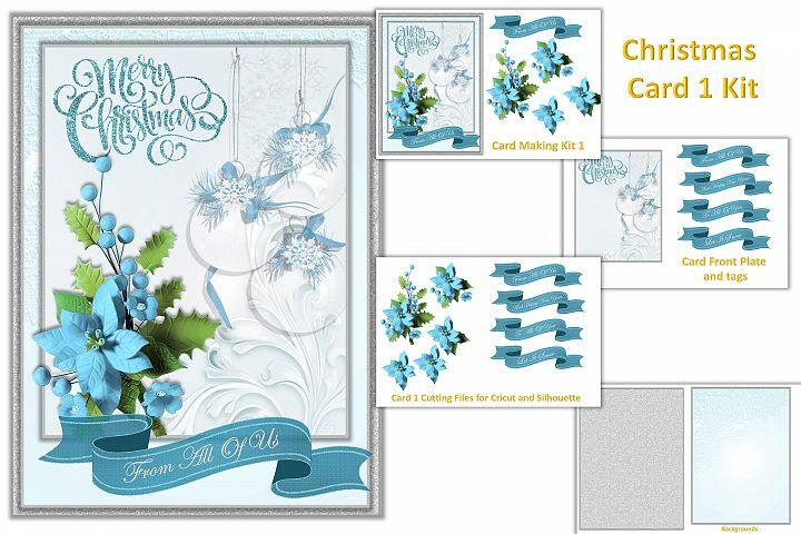 Christmas Card Making Kit with free clipart example 1