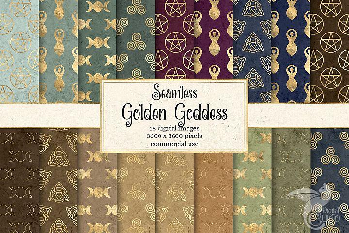 Golden Goddess Digital Paper