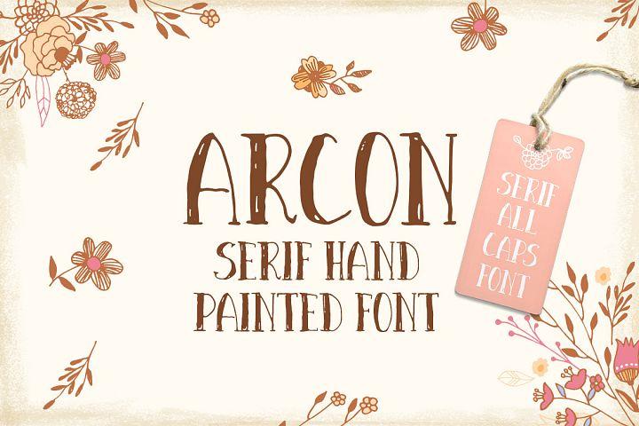 Arcon font
