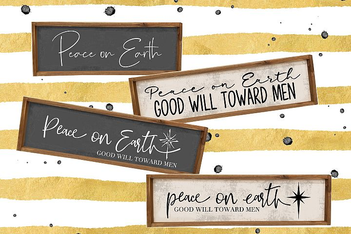 Peace on Earth Bundle - 4 files - SVG EPS PNG