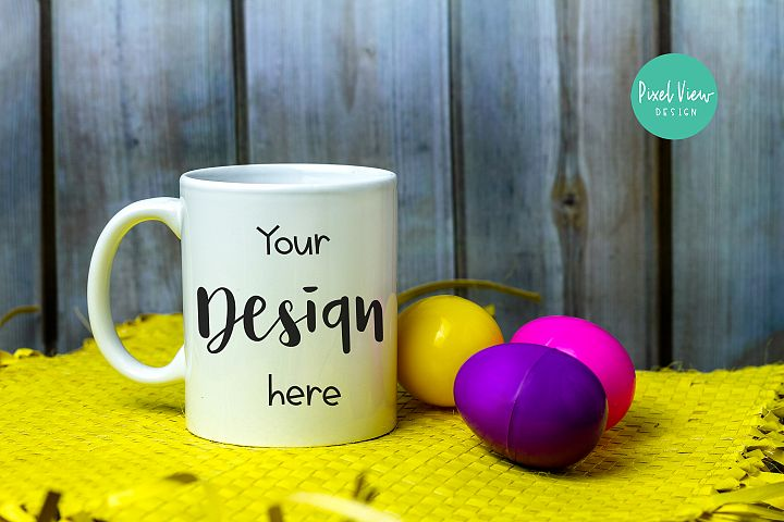 White Coffee Mug Mock-Up | Easter Theme