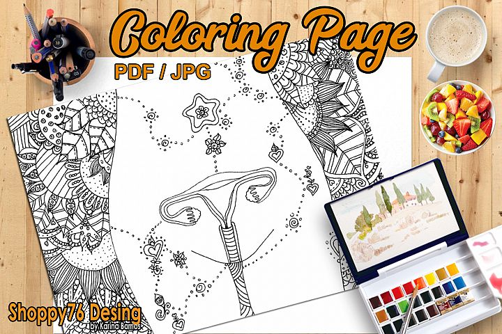 Healing of the uterus / coloring page