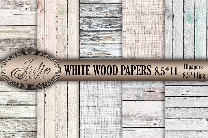 White wood digital papers 8. 5 x 11