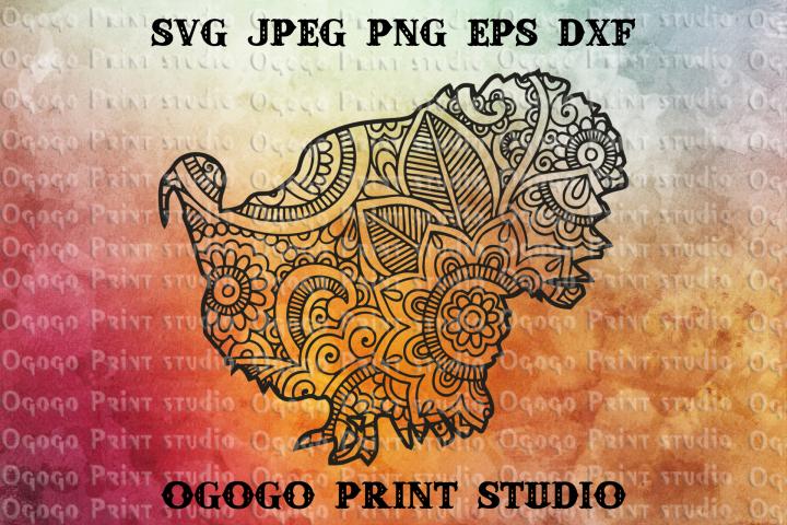 Mandala style Turkey SVG, Thanksgiving SVG, Zentangle SVG