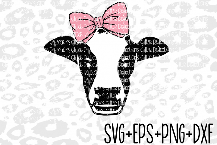 Cow Svg - Bow Svg- Cow Bow - Cricut File- Cut File -