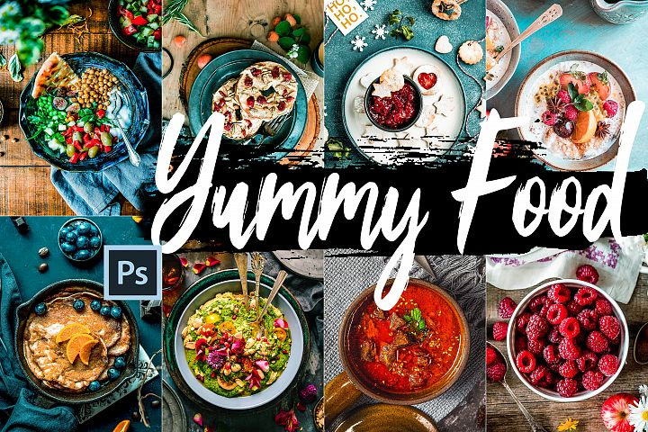 Neo Yummy Food Theme Color Grading photoshop actions