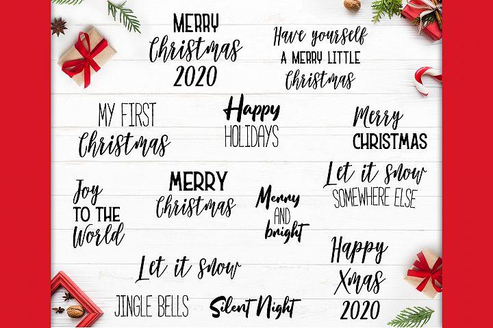 25 Christmas Sayings SVG Bundle, Christmas SVG