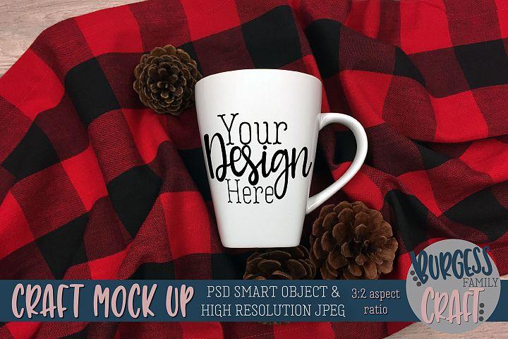 Mug craft mock up 3-2 aspect ratio Buffalo Pine  PSD & JPEG