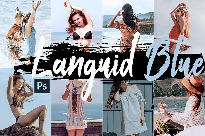 Neo Languid Blue Theme Color Grading photoshop actions