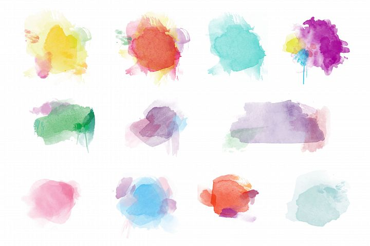 Watercolor vector -Hand painted watercolor template vector background