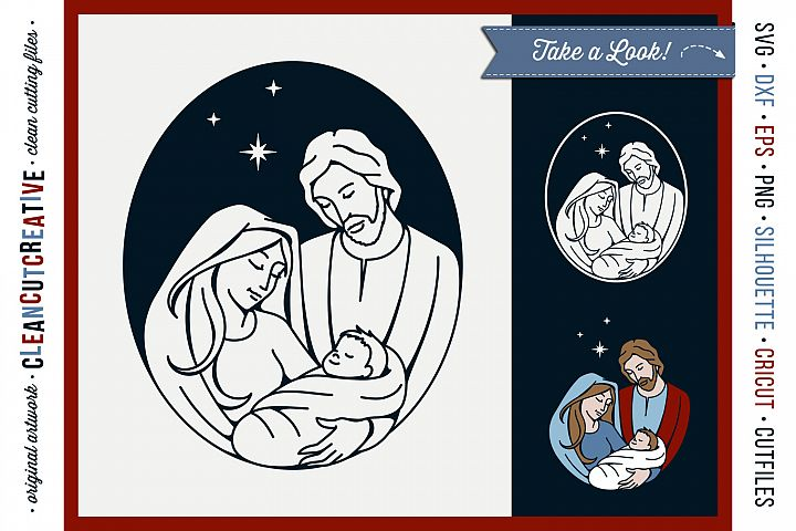 Christmas Nativity Design - Holy Family - Baby Jesus SVG