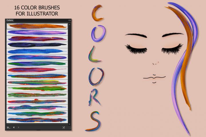 Color Brushes for Illustrator