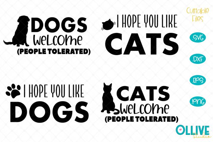 Cat and Dogs Doormat SVG Mini Bundle