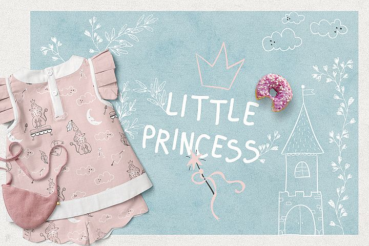 Little Princess. Illustrations & Patterns