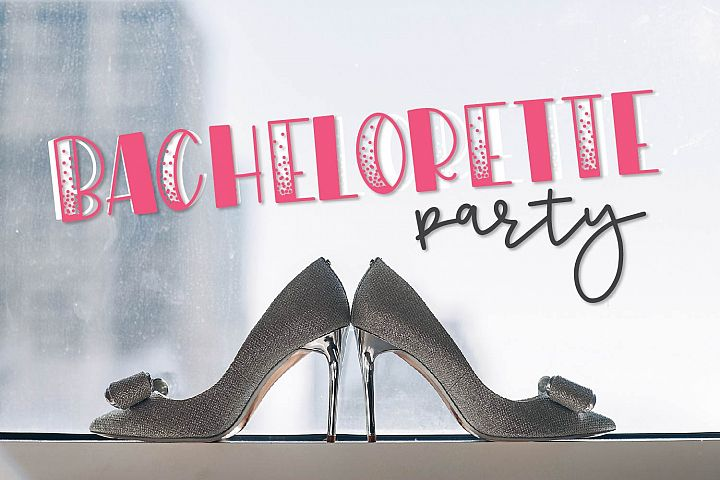 WildNight - A Hand Lettered Shimmery Font Duo example image 6