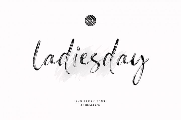 Ladiesday SVG & Brush Font