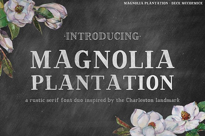 Magnolia Plantation Hand-lettered Serif Font Duo