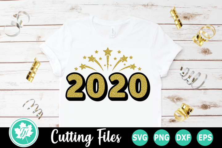 2020 Firework - A New Years SVG Cut File
