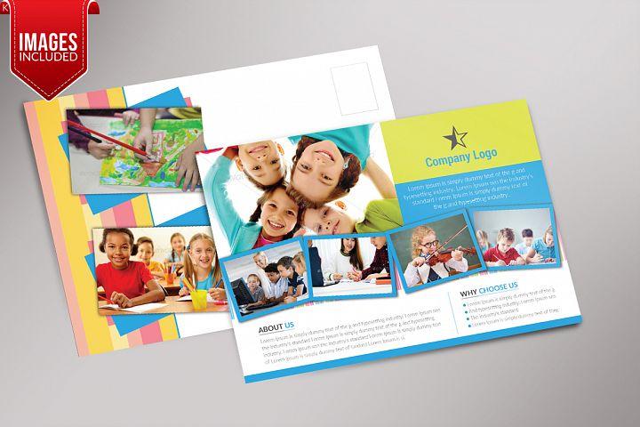 Children Schooling Postcard