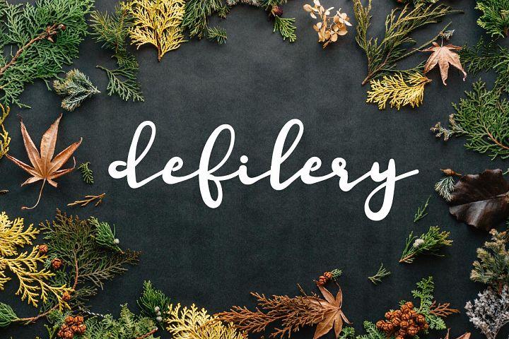 Defilery Script Font