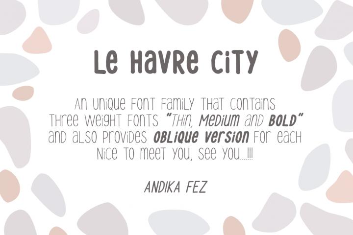 Le Havre City Font