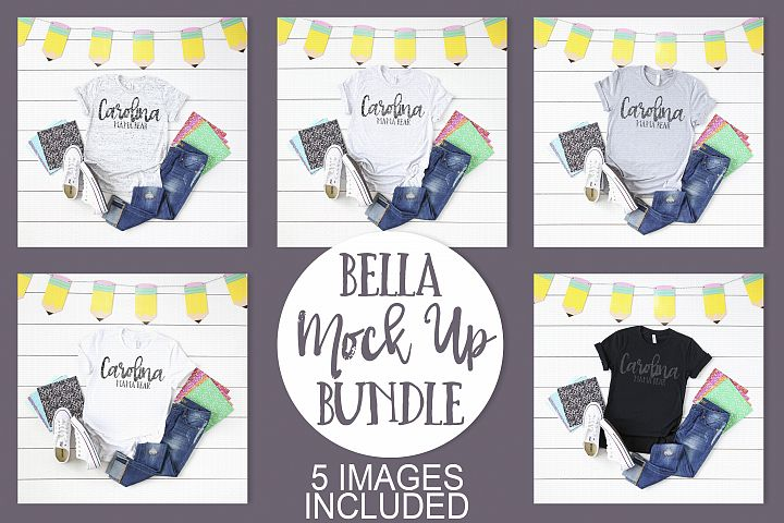 Bella Canvas School Themed Mock Up Bundle