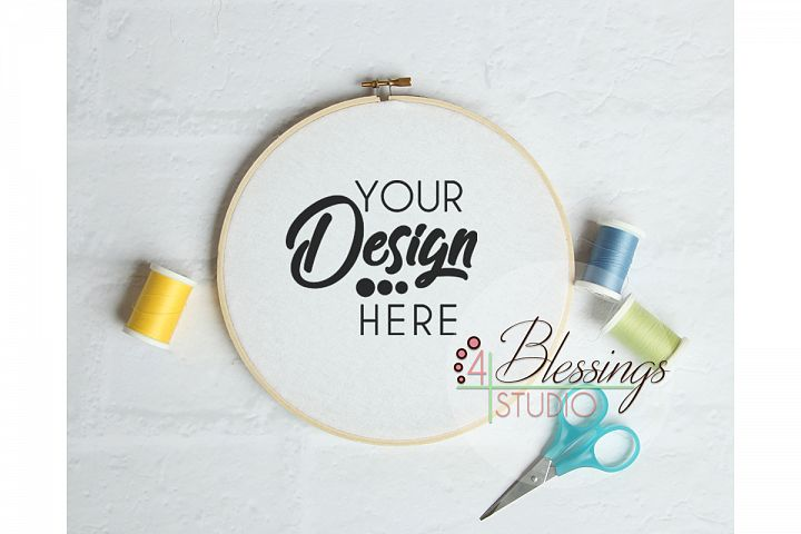 Embroidery Hoop Mockup Sewing Hoop Template Photo