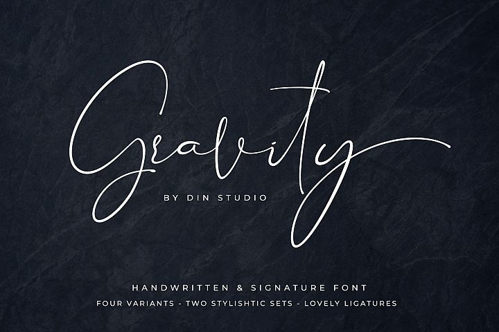 Gravity-Handwritten & Signature