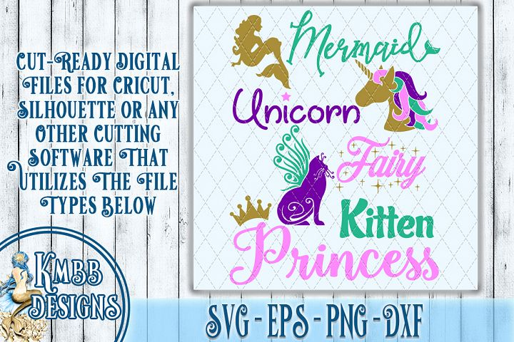 Fantasy Mermaid SVG - SVG EPS PNG DXF Cricut Silhouette